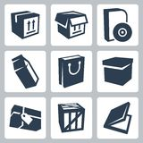 Vector package icons set #1 Stock Photography