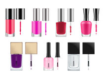 Vector packages for nail polish. Stock Image