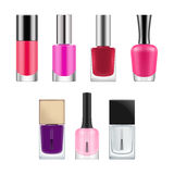 Vector packages for nail polish. Stock Photos