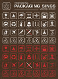 Vector Packaging Grunge Icons Set Royalty Free Stock Photo