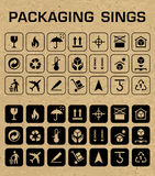 Vector Packaging Icons Set Royalty Free Stock Photo
