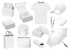 Vector Packaging and Souvenir dummy Royalty Free Stock Photos