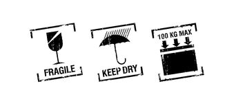 Vector packing stamps Stock Photo