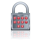 Vector padlock icon. A vector padlock icon on white with reflection Stock Image