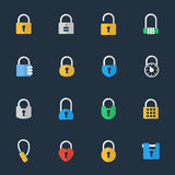 Vector padlock icons Royalty Free Stock Photos