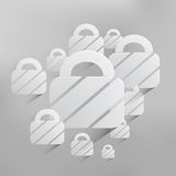 Vector padlock web icon background Royalty Free Stock Photo