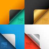 Vector Page Curls Set Royalty Free Stock Photography