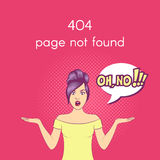 Vector 404 Page not found illustration. Stock Image