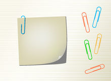 Vector Page Notepad And Paper Clips Royalty Free Stock Photos