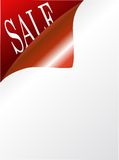 Vector page with text sale Royalty Free Stock Photo