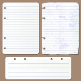 Vector pages from notepad Royalty Free Stock Image