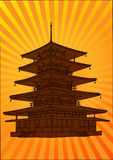 Vector pagoda, Stock Image