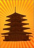 Vector Pagoda, Stock Image