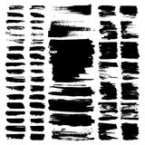 Vector paint brush strokes collection. Vector paint brush strokes, collection of grungy design elements. black, isolated on white background Royalty Free Stock Photo