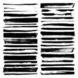 Vector paint brush strokes collection. Vector paint brush strokes, collection of grungy design elements. black, isolated on white background Royalty Free Stock Photos
