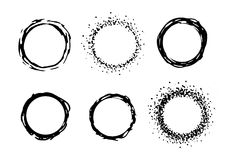 Vector paint circle frames set Stock Image