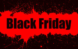 Vector paint grunge background for Black Friday Sale. Stock Images