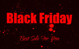 Vector paint grunge background for Black Friday Sale. Royalty Free Stock Images