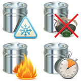 Vector Paint Properties Icons Royalty Free Stock Photos