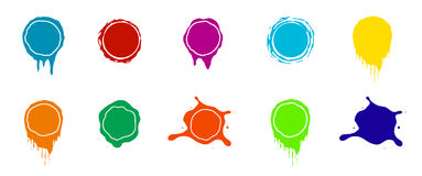 Vector paint splashes. Color Royalty Free Stock Images