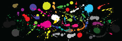 Vector paint splashes. Royalty Free Stock Image