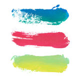Vector paint stripes with place for text. Royalty Free Stock Images