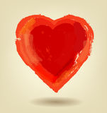 Vector painted red heart Royalty Free Stock Photos