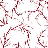 Vector painted tree brunches seamless pattern background with hand drawn elements royalty free illustration