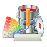 Vector Painting Concept Royalty Free Stock Image