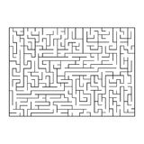 Vector painting of maze, labyrinth. Isolated on white background. Stock Photography