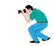 Vector painting of photographe photographer Royalty Free Stock Image