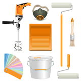 Vector Painting Tools Stock Images