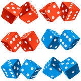 Vector pair of dice icon set Royalty Free Stock Photo