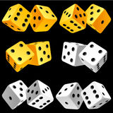 Vector pair of dice icon set Royalty Free Stock Images