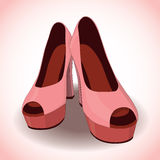 Vector pair of women's shoes Stock Image
