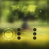 Vector a paisagem borrada, crachá do eco, etiqueta da ecologia, opinião da natureza, Imagem de Stock Royalty Free