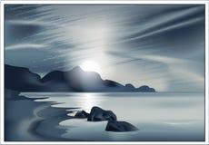 Vector a paisagem marinha Imagens de Stock