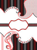 Vector paisley banner design in two color Stock Photography