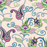 Vector Paisley indian ornament Royalty Free Stock Images