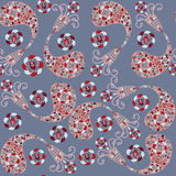 Vector Paisley seamless pattern and seamless patte Royalty Free Stock Photography