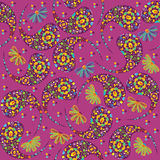 Vector Paisley seamless pattern and seamless patte Royalty Free Stock Photos