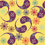 Vector Paisley seamless pattern and seamless patte Royalty Free Stock Photo