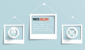 Vector palaroid pattern 29.04.2013. Vector photo frame banner. Vector illustration Royalty Free Stock Image