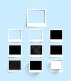 Vector palaroid pattern 29.04.2013. Vector set photo frame banner. Vector illustration Stock Images