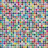 Vector palette. 484 different colors chaotically scattered in a shape of extruded circle. royalty free illustration