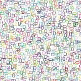 Vector palette. 729 outlines of shapes chaotically colored and scattered. royalty free illustration