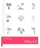 Vector palm icon set Royalty Free Stock Images