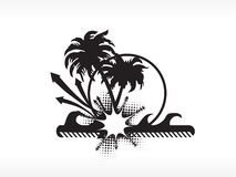 Vector palm tree series_6 logo isolated on white Royalty Free Stock Photography