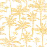 Vector palm trees golden textile seamless pattern Royalty Free Stock Images