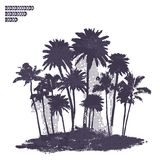 Vector Palm trees illustration. For your business Stock Images